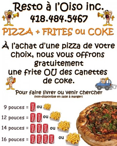 Pub Pizza take out septembre 2017
